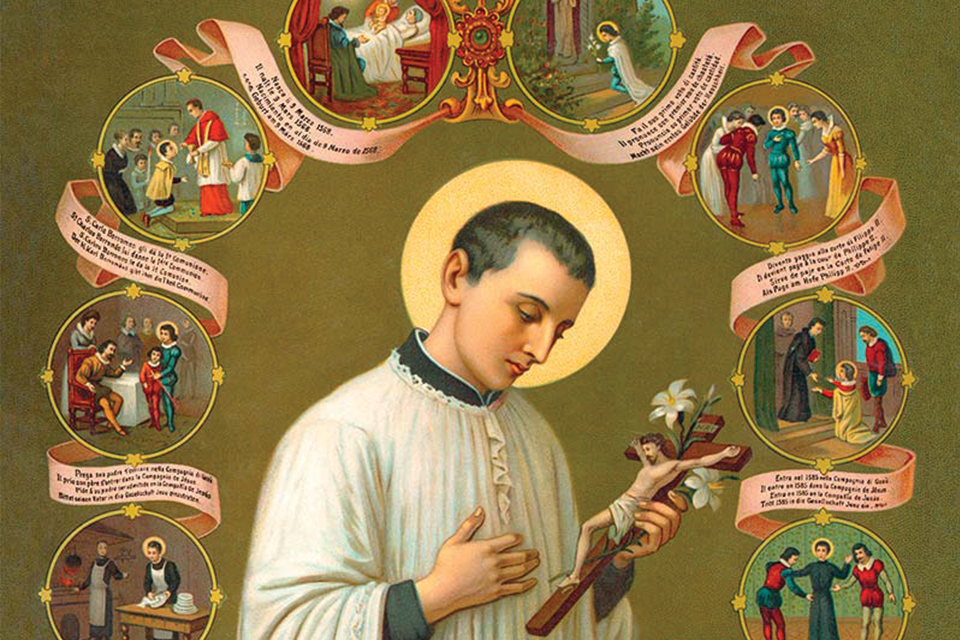 San Luigi Gonzaga, Protector of Youth and the Red Cross